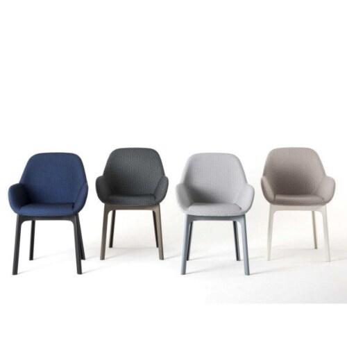 Kartell Clap stoel-Zwart-Wit