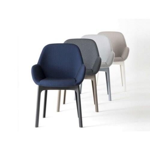 Kartell Clap stoel-Licht grijs-Duifgrijs