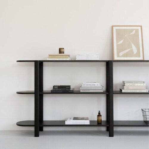 Studio HENK Oblique Cabinet OB-3L zwart frame-155 cm (2 frames)-Hardwax oil light