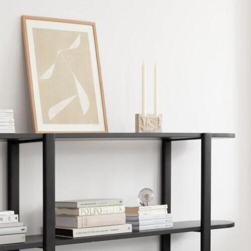 Studio HENK Oblique Cabinet OB-2L wit frame-155 cm (2 frames)-Hardwax oil natural