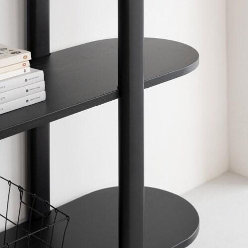 Studio HENK Oblique Cabinet OB-6L wit frame-155 cm (2 frames)-Hardwax oil light