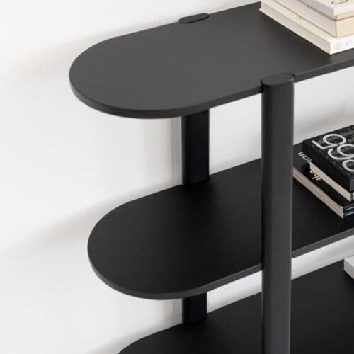Studio HENK Oblique Cabinet OB-6L zwart frame-250 cm (3 frames)-Hardwax oil natural