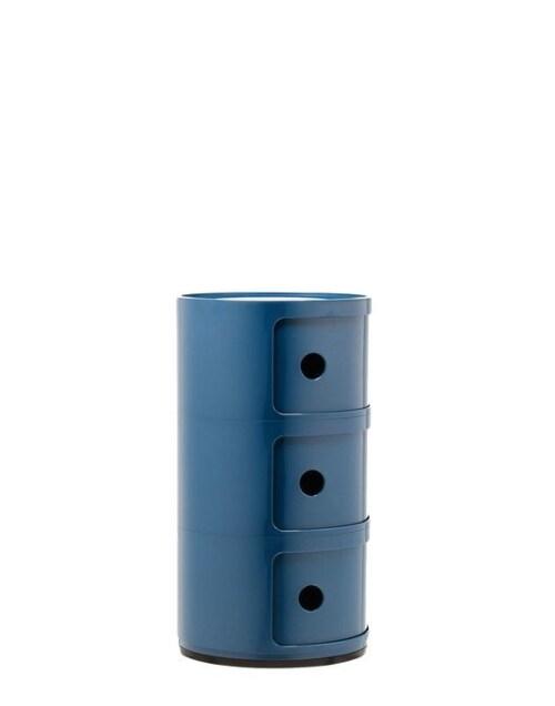 Kartell Componibili kastje -3 hoog-Blauw