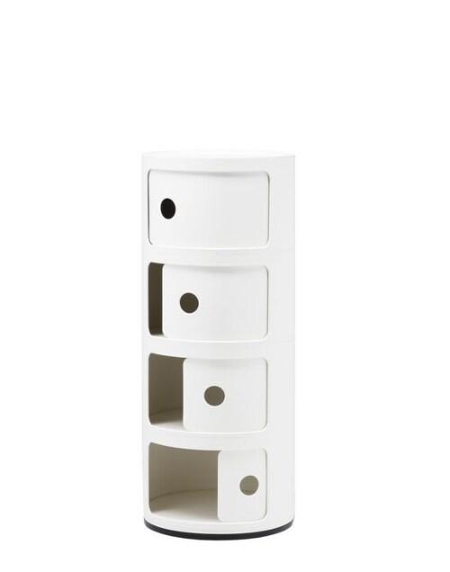 Kartell Componibili kastje -4 hoog-Wit