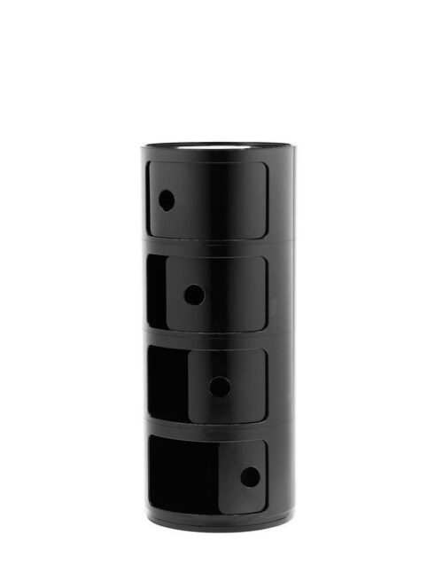 Kartell Componibili kastje -4 hoog-Zwart