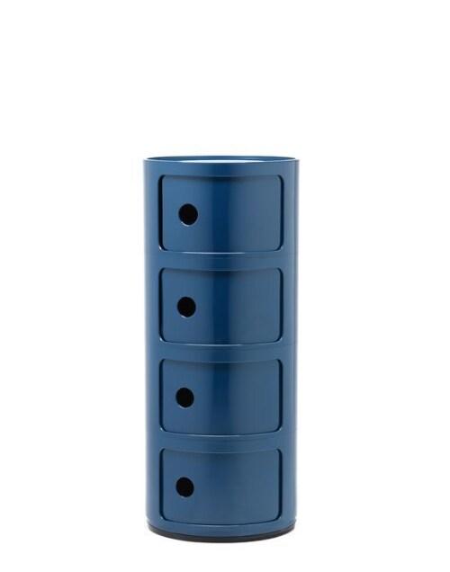 Kartell Componibili kastje -4 hoog-Blauw
