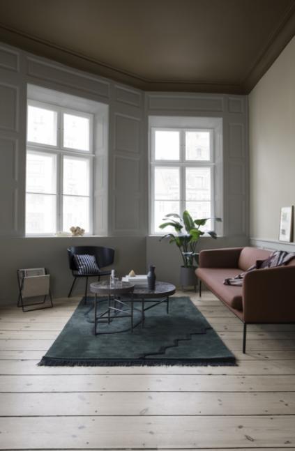 Ferm Living Turn Sofa 3-zits bank Fiord-991 Dark Green