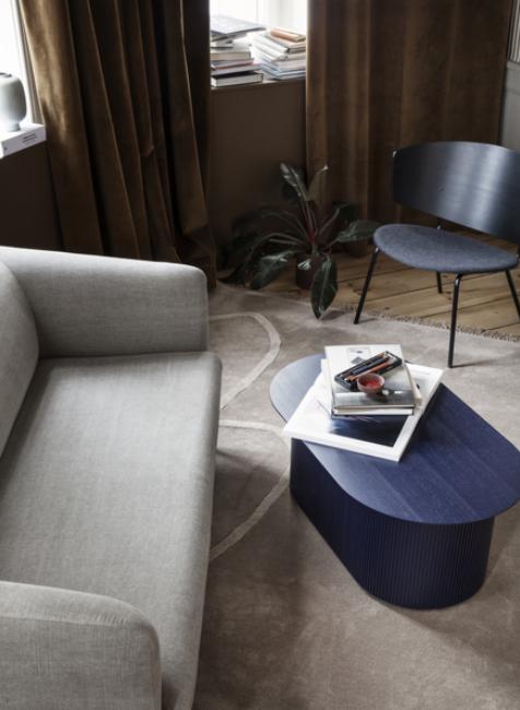 Ferm Living Turn Sofa 2-zits bank wol-Blue/Light Grey