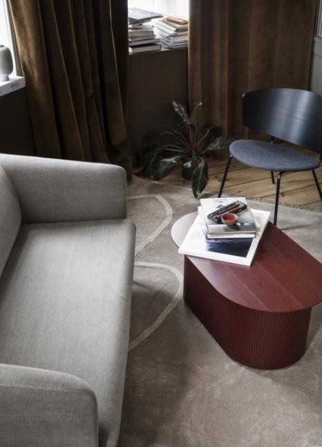 Ferm Living Turn Sofa 2-zits bank katoen-Blue