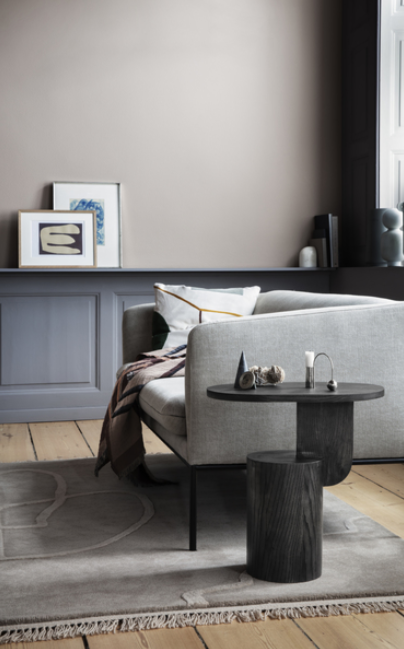 Ferm Living Turn Sofa 2-zits bank Fiord-171 Dark Grey