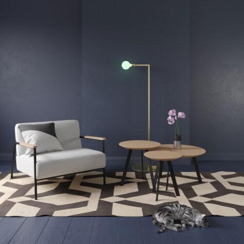 Studio HENK New Co Coffee Table 900-Zwart-Hardwax oil light