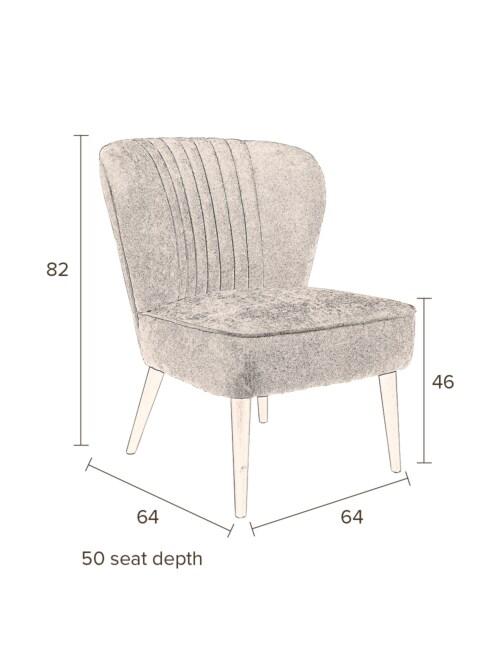 Dutchbone Smoker fauteuil-Rood