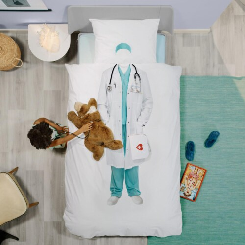 Snurk Doctor dekbedovertrek-140x200/220 cm