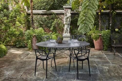 Kartell Glossy Outdoor tafel-Zwart-zwart-192x118 cm