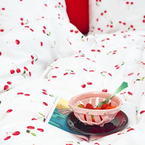 Snurk Cherries dekbedovertrek -140x200/220 cm