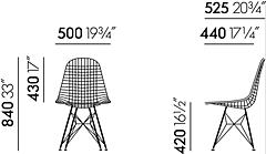 Vitra Eames Wire Chair DKR 2 stoel verchroomd onderstel-Zwart