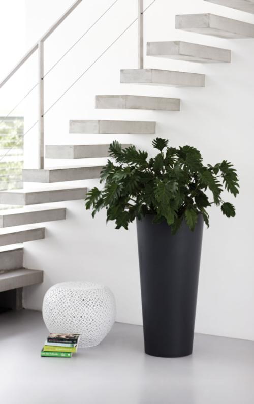 Elho Pure Straight Round high bloempot-antraciet-∅ 60 cm