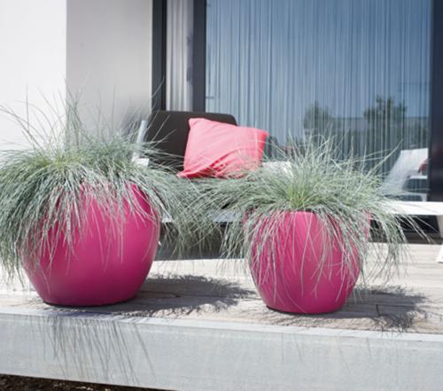 Elho Pure Soft Round bloempot-antraciet-∅ 50 cm