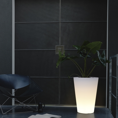 Elho Pure bloempot Straight LED Light-∅ 40 cm