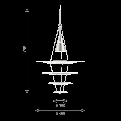Louis Poulsen Enigma Ø 425 hanglamp-Aluminium