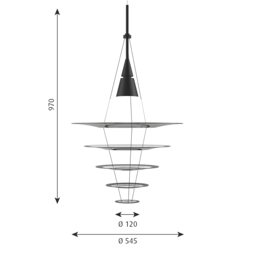 Louis Poulsen Enigma Ø 545 hanglamp-Zwart