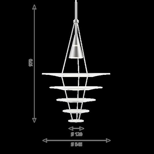 Louis Poulsen Enigma Ø 545 hanglamp-Aluminium