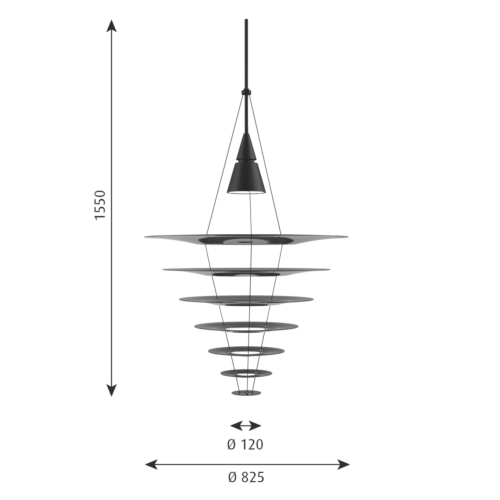 Louis Poulsen Enigma Ø 825 hanglamp-Zwart