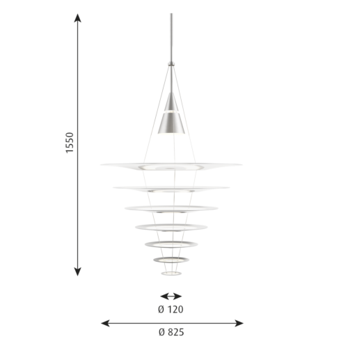 Louis Poulsen Enigma Ø 825 hanglamp-Aluminium