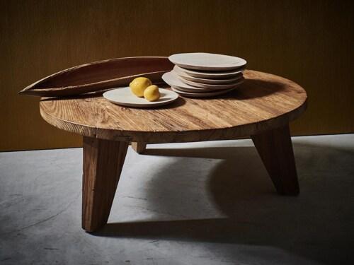 HKliving Teak salontafel-∅ 80 cm