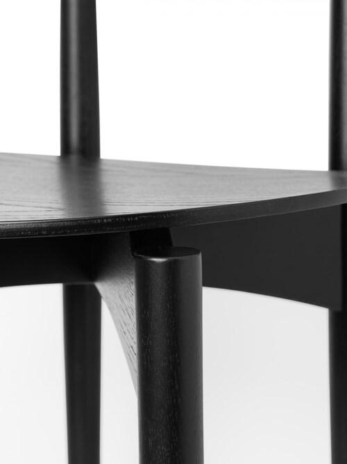 Ferm Living Herman Wood Dining Chair eetkamerstoel-Black