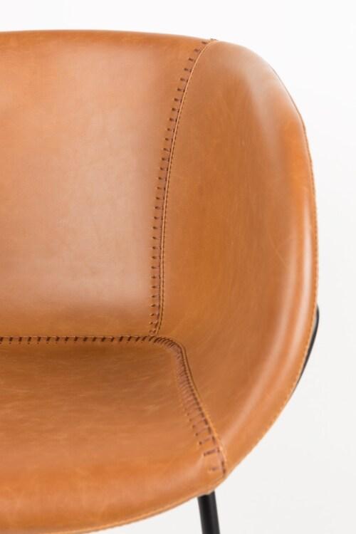 Zuiver Feston stoel-Cognac