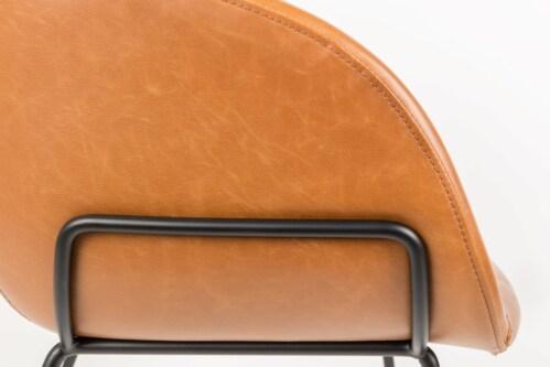 Zuiver Feston barkruk-Cognac-Zithoogte 65 cm