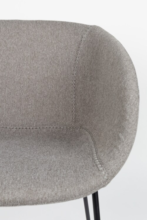 Zuiver Feston barkruk-Grijs-Zithoogte 76 cm