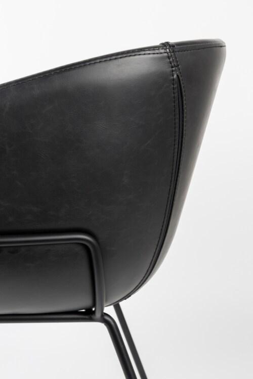 Zuiver Feston barkruk-Zwart-Zithoogte 65 cm