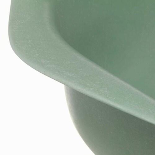 Vitra Eames DAX Fiberglass stoel met zwart onderstel-Sea Foam Green