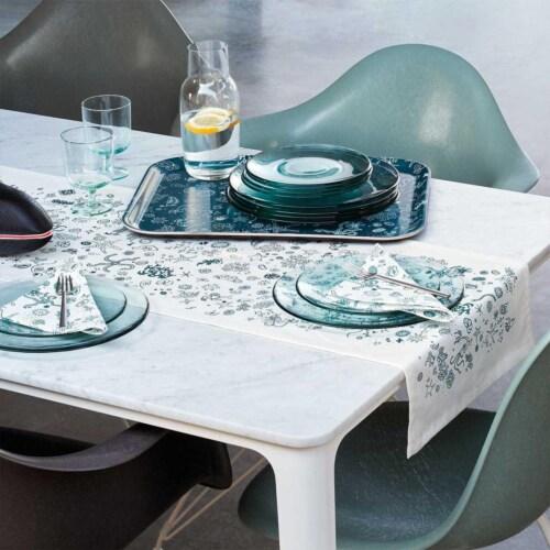 Vitra Eames DAR Fiberglass stoel met wit onderstel-Sea Foam Green