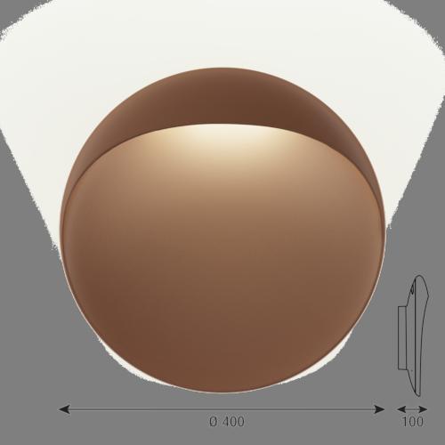 Louis Poulsen Flindt 400 wandlamp LED-Corten