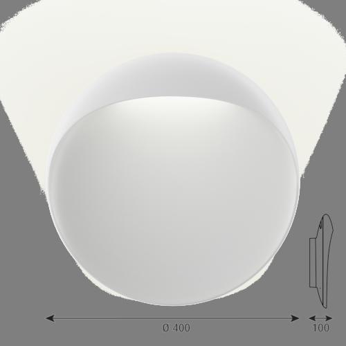 Louis Poulsen Flindt 400 wandlamp LED-Wit