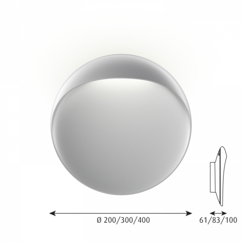 Louis Poulsen Flindt 300 wandlamp LED-Aluminium