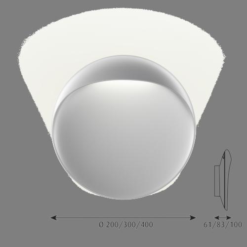 Louis Poulsen Flindt 400 wandlamp LED-Aluminium