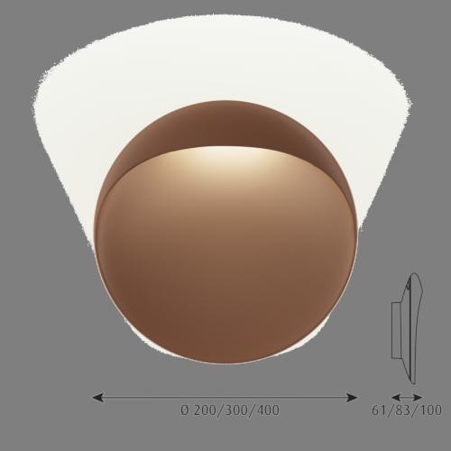 Louis Poulsen Flindt 300 wandlamp LED-Corten