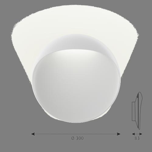 Louis Poulsen Flindt 300 wandlamp LED-Wit