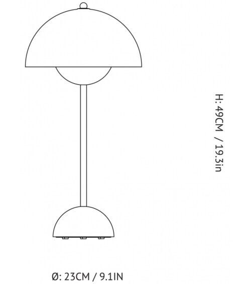 &tradition FlowerPot VP3 tafellamp-Grijs beige