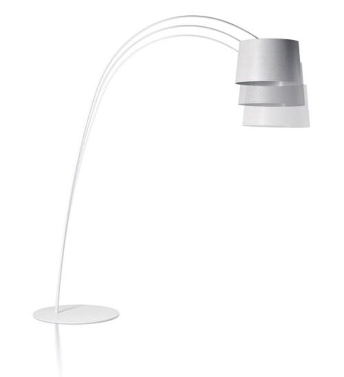 Foscarini Twiggy LED dimbaar booglamp-Grijs