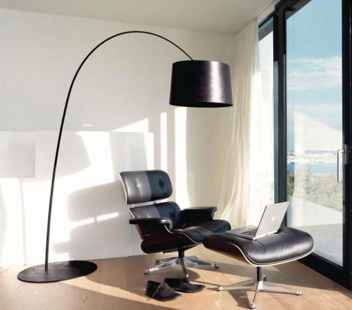 Foscarini Twiggy LED dimbaar booglamp-Zwart