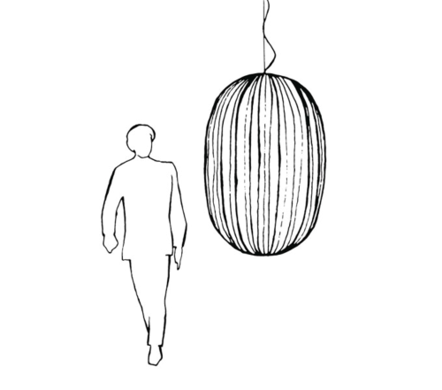 Foscarini hanglamp Plass-Grijs-Media