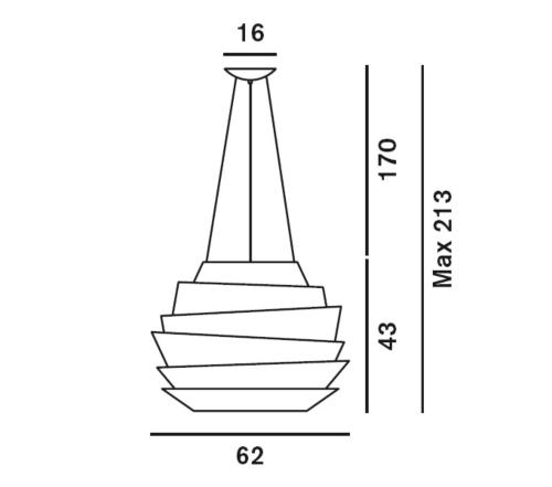 Foscarini Le Soleil hanglamp-Wit