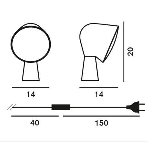 Foscarini Binic tafellamp-Wit