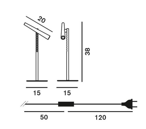 Foscarini Magneto LED tafellamp-Zwart