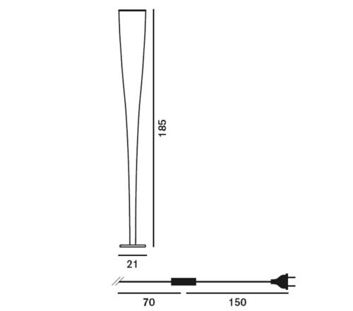 Foscarini Mite vloerlamp-Geel